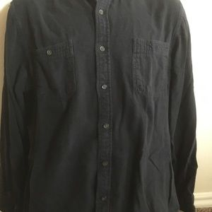 Black Long Sleeve Thick Button-up, St Johns Bay